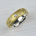 18ct and silver with diamonds