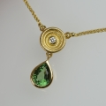 18ct gold with tourmaline and diamond