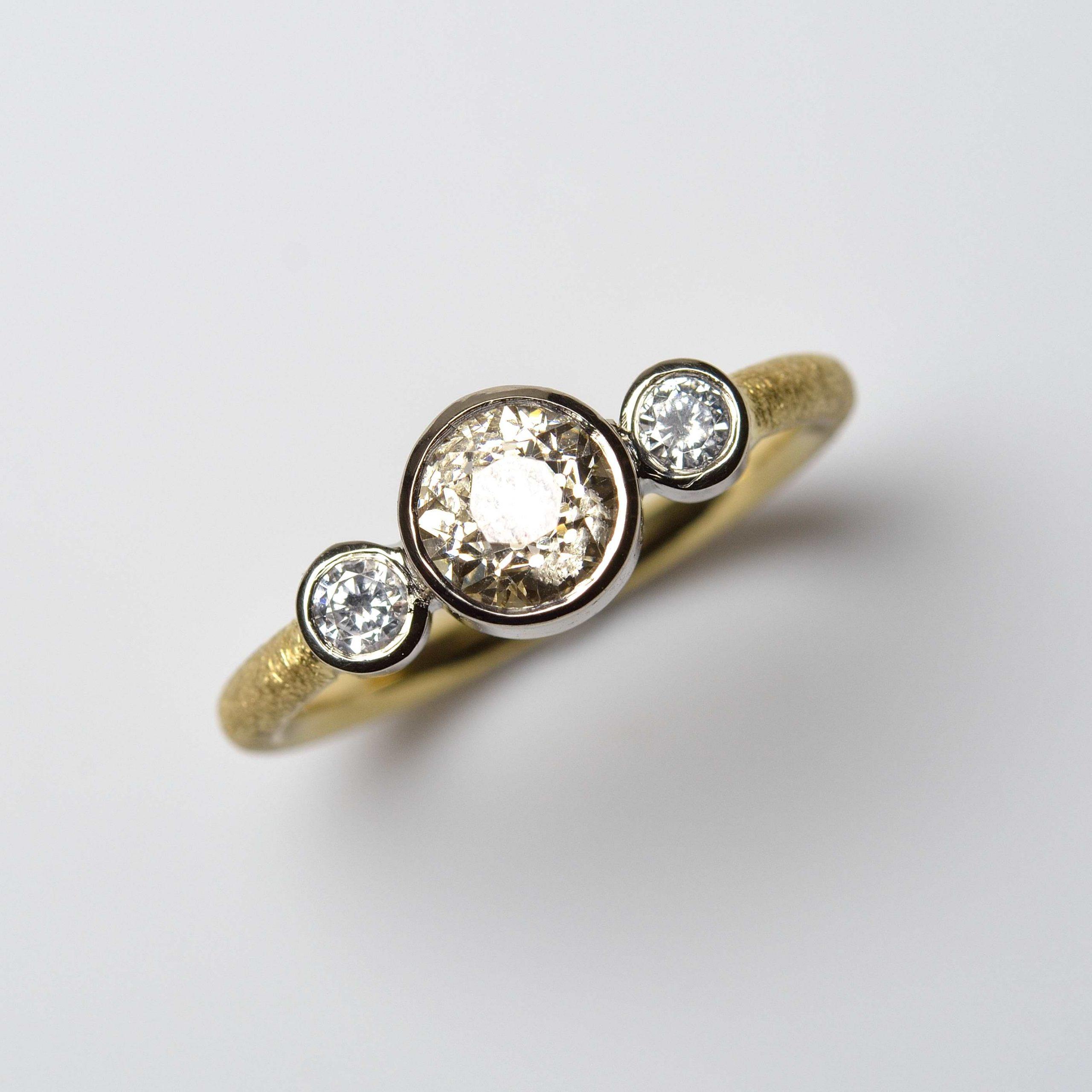 remodelled diamond ring