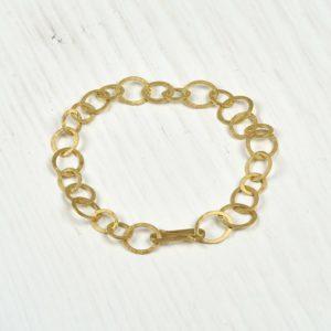18ct gold handmade bracelet