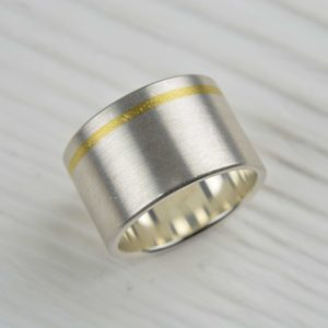 sterling silver and fine gold ring