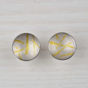 sterling silver, 18ct gold and fine gold studs