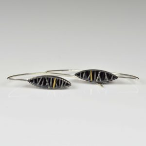 sterling silver and 22ct gold earrings