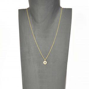 18ct gold tourmaline pendant