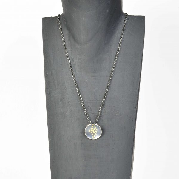 silver and finegold pendant and chain